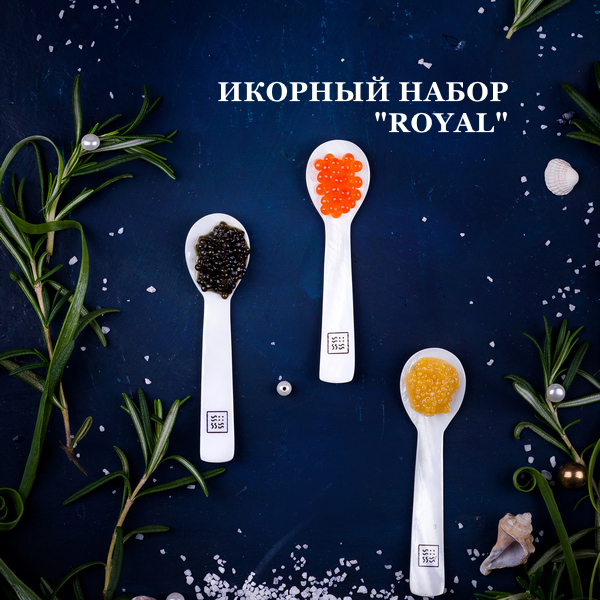 Caviar Set ROYAL ADMIRAL HUSSO
